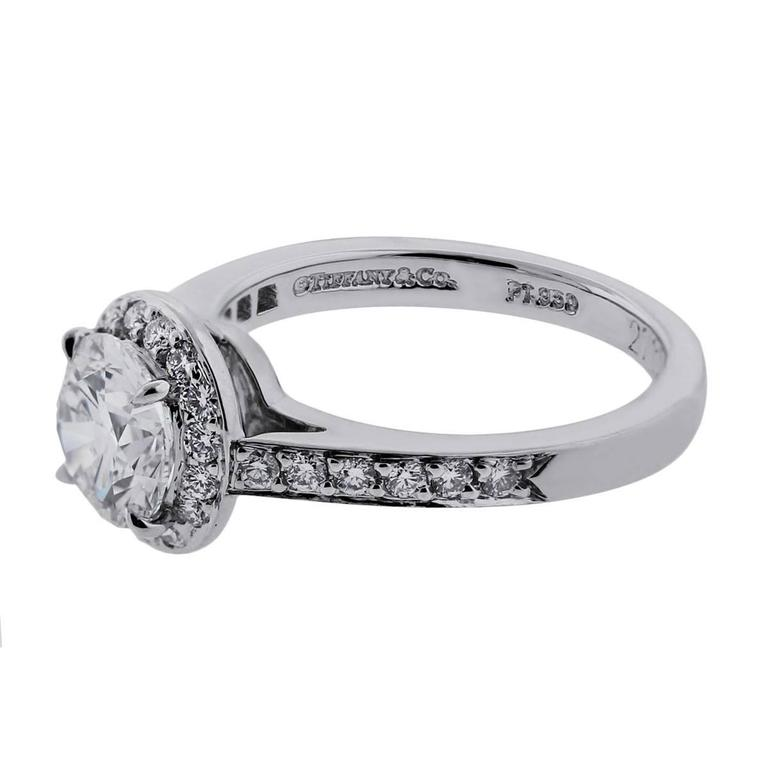 Tiffany & Co. 0.94 Carat Diamond Platinum Engagement Ring 2