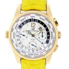 Girard Perregaux Rose Gold Worldtimer Automatic Wristwatch Ref 49805