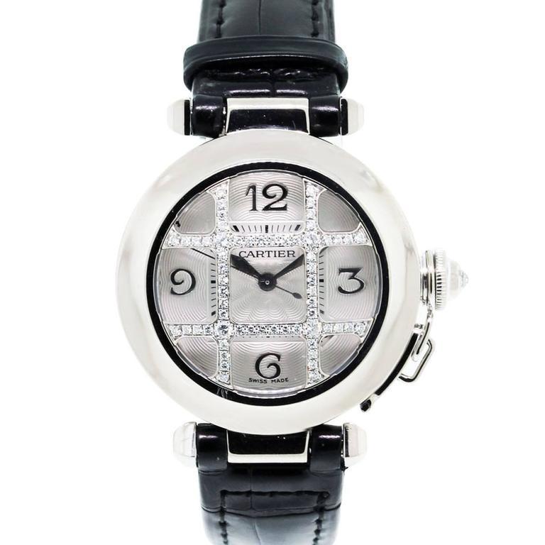 Cartier Yellow Gold Diamond Grill Pasha de Cartier Automatic Wristwatch Ref 2529