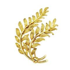 Tiffany & Co. Gold Leaf Pin
