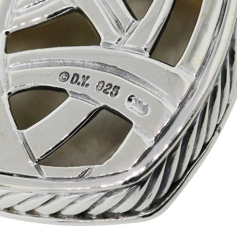 David Yurman Albion MotherofPearl Diamond Sterling Silver Enhancer 3