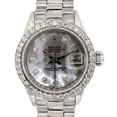Rolex Ladies White Gold Datejust Automatic Wristwatch Ref 6917