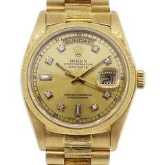 Rolex Yellow Gold Day Date Champagne Dial Presidential Automatic Wristwatch