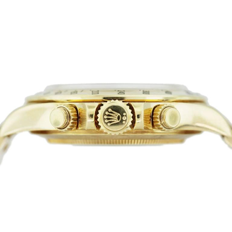 Rolex Yellow Gold Daytona Zenith Oyster Perpetual Automatic Wristwatch  In As new Condition For Sale In Boca Raton, FL