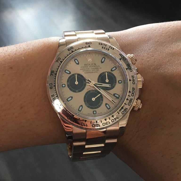 Rolex Rose Gold Daytona Chronograph Automatic Wristwatch Ref 116505