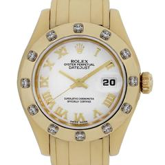 Rolex 80318 Masterpiece 18k Yellow Gold White Roman Dial Watch
