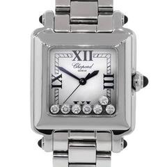 Chopard Stainless Steel Happy Sport Floating Diamonds Watch