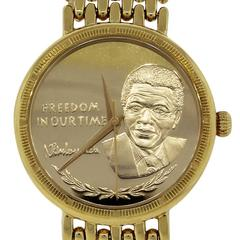 18k Yellow Gold Nelson Mandela Limited Edition Watch