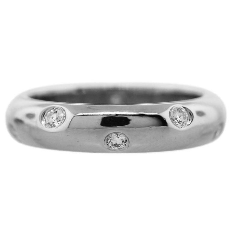 Tiffany & Co. Diamond Platinum Etoile Band Ring
