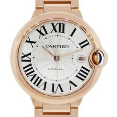 Cartier Rose Gold Ballon Bleu White Dial Automatic Wristwatch