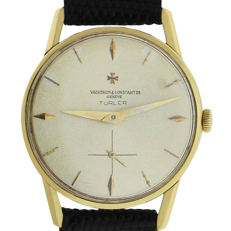 Vacheron Constantin Yellow Gold Turler Manual Wind Wristwatch