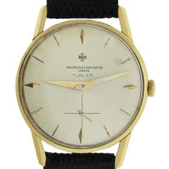 Vacheron Constantin Yellow Gold Turler Manual Wind Wristwatch