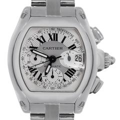 Cartier Stainless Steel Roadster XL 2618 Chronograph Dial Automatic Wristwatch