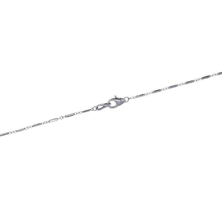 1.50 Carat Diamond Platinum Pendant Necklace In Excellent Condition For Sale In Boca Raton, FL