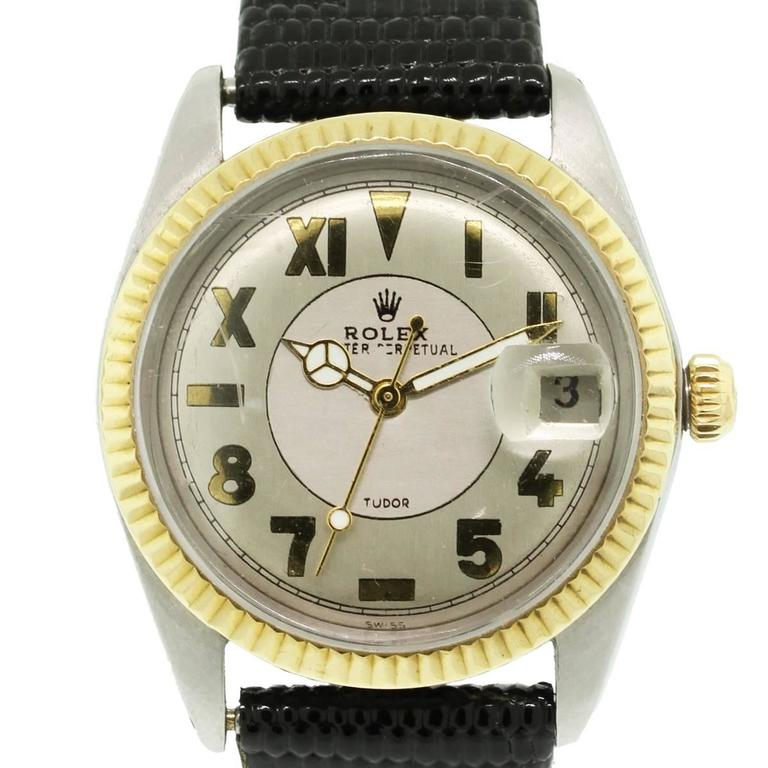 Rolex Tudor Yellow Gold Stainless Steel Automatic Wristwatch