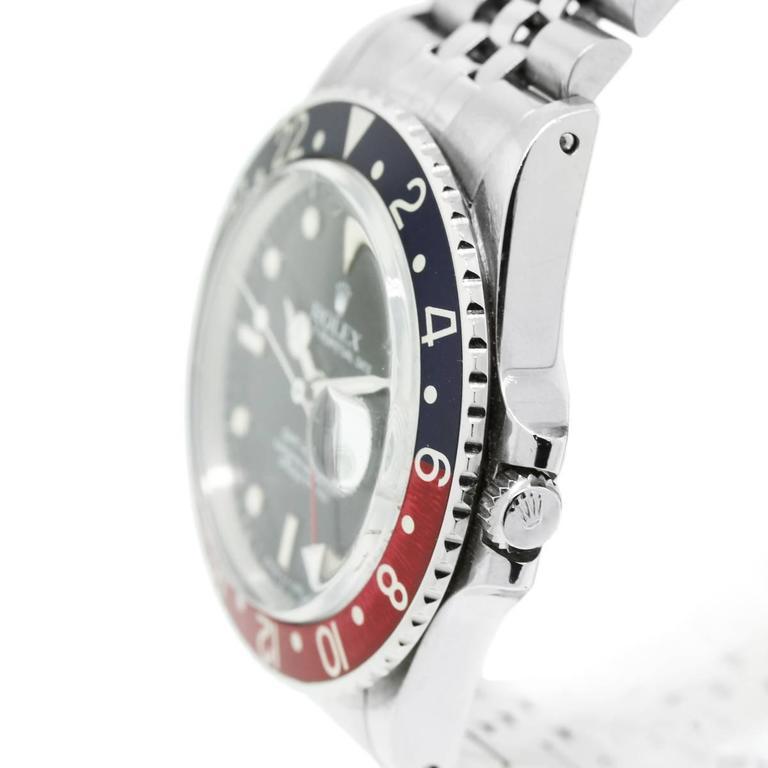 Rolex Stainless Steel GMT Master Pepsi Bezel Automatic Wristwatch 2