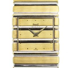 Piaget Polo White and Yellow Gold Polo Quartz Wristwatch