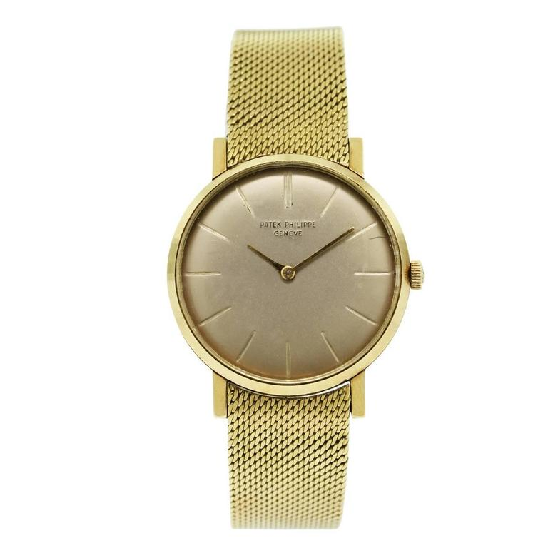 Patek Philippe Yellow Gold Dial and Bezel Manual Wind Wristwatch