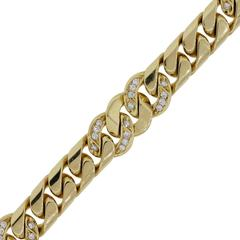 Bulgari  Diamond Gold Link Bracelet