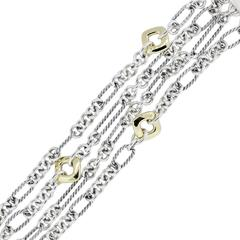 David Yurman Two Tone Multi Row Figaro Bracelet
