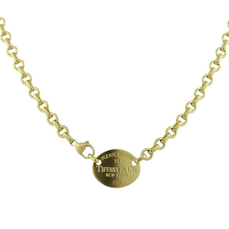 20e8b8cf4 Tiffany and Co. Yellow Gold Return To Tiffany's Chain Necklace at ...