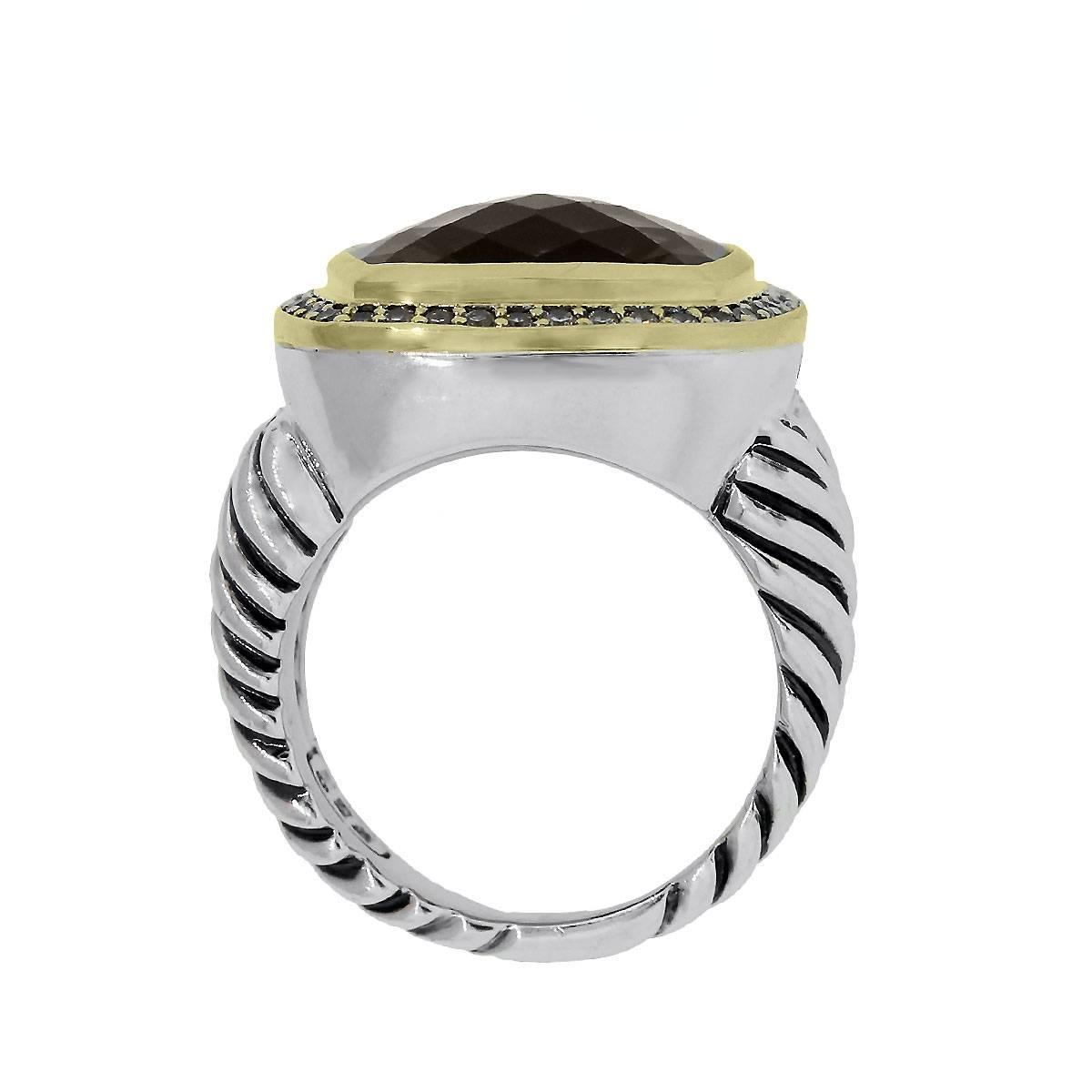 silvergold and yurman lyst silver rings with jewelry labyrinth normal diamonds david dome ring in gold product gallery