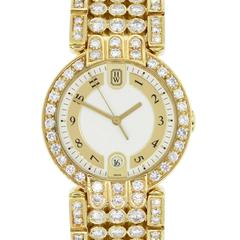 Harry Winston Yellow Gold Diamond Premier Quartz Wristwatch