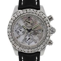 Breitling Stainless Steel Windrider Chronomat Evolution Wristwatch Ref A13356