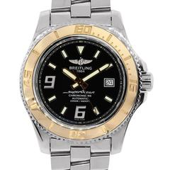 Breitling Rose Gold Stainless Steel Superocean Automatic Wristwatch Ref C17391