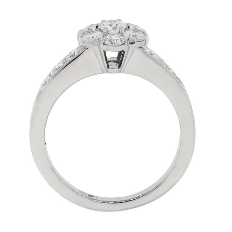 Van Cleef & Arpels Fleurette Diamond White Gold Ring 2