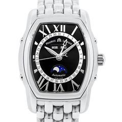 Maurice Lacroix Stainless Steel Masterpiece Phase de Lune Tonneau Wristwatch