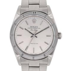 Rolex Stainless steel Air King Silvered Dial Wristwatch Ref 1410M