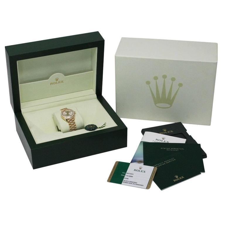 Rolex yellow gold Datejust Presidential Automatic Wristwatch  For Sale 1