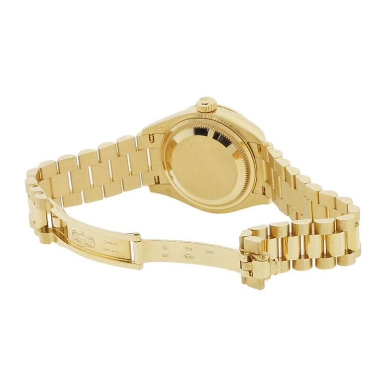Women's Rolex yellow gold Datejust Presidential Automatic Wristwatch  For Sale