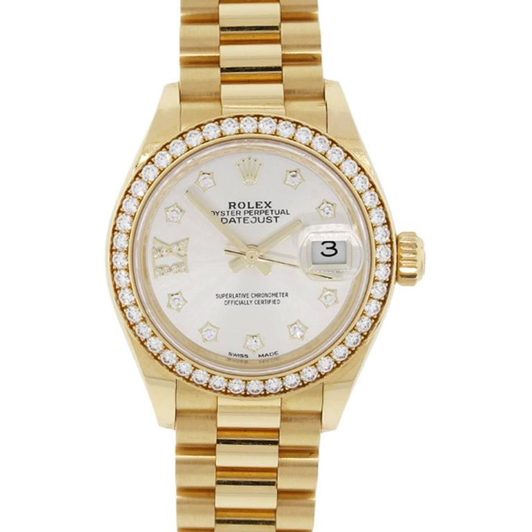 Rolex yellow gold Datejust Presidential Automatic Wristwatch  For Sale