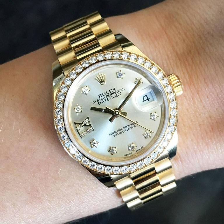 Rolex yellow gold Datejust Presidential Automatic Wristwatch  For Sale 2