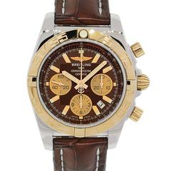 Breitling Rose Gold Chronomat Automatic Wristwatch Ref CB0110