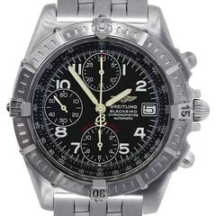 Breitling Stainless Steel Blackbird Chronograph Wristwatch Ref A13353