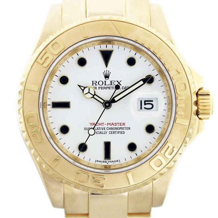 Rolex Yellow Gold Yachtmaster Wristwatch Ref 16628