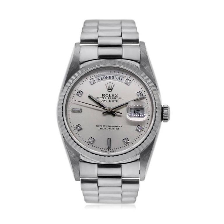 Rolex Platinum Presidential Day-Date Ens Wristwatch Ref 18206  2