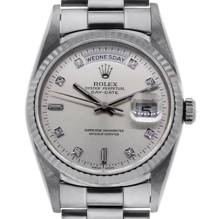 Rolex Platinum Presidential Day-Date Ens Wristwatch Ref 18206  1