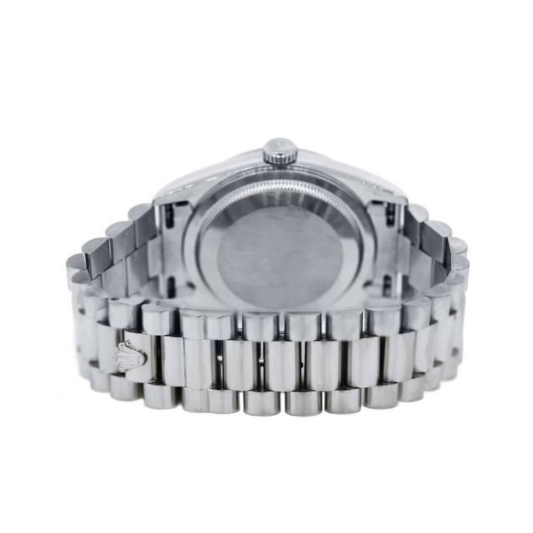 Rolex Platinum Presidential Day-Date Ens Wristwatch Ref 18206  4