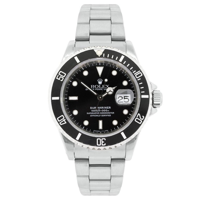 Rolex Stainless Steel Submariner Automatic Wristwatch Ref 16610 2