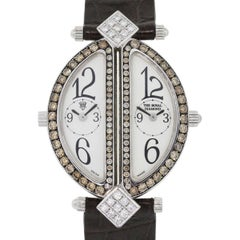 The Royal Diamond white gold Double Diamond quartz Wristwatch Ref BA812