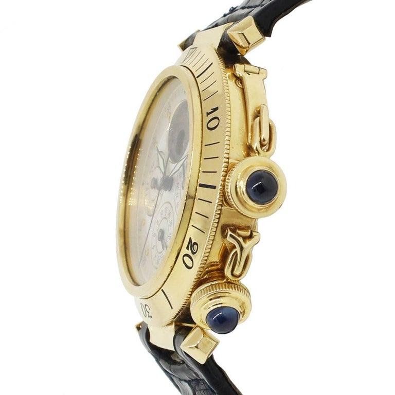 Cartier GMT Pasha Day Date Moonphase Wristwatch Ref MG246506 3