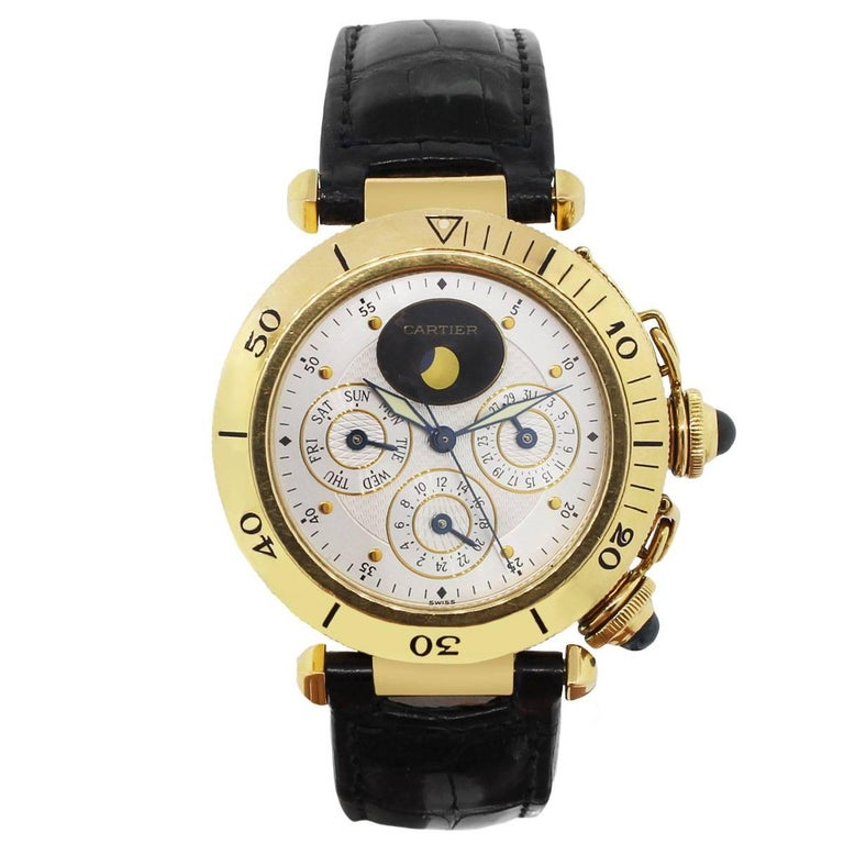 Cartier GMT Pasha Day Date Moonphase Wristwatch Ref MG246506 2