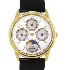 Piaget Vintage Annual Calendar Moonphase Wristwatch Ref 15958