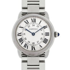 Cartier Stainless Steel Ronde Solo Quartz Wristwatch Ref 3601