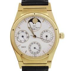 IWC Yellow Gold Perpetual Calendar Automatic Wristwatch Ref 3540