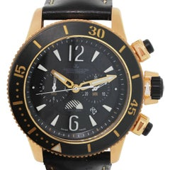 Jaeger Lecoultre Rose Gold Chronograph GMT Limited Navy Seals Wristwatch